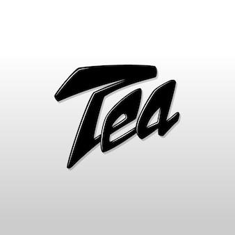 Typografie wort tee