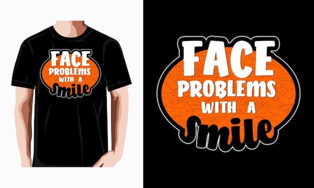 Typografie zitat motivation t-shirt premium-vektor