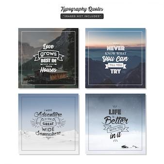 Typografie-zitat social media-beitrag