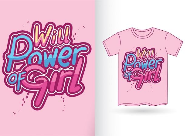Typografieslogan für t-shirt