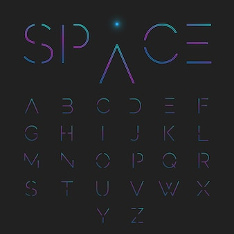 Typografische alphabet festgelegt