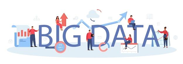 Typografische formulierung und illustration von big data.