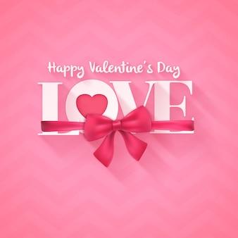 Typografische grußkarte zum valentinstag