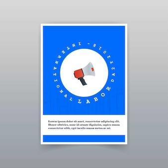Typografische karte des werktags mit kreativem designvektor