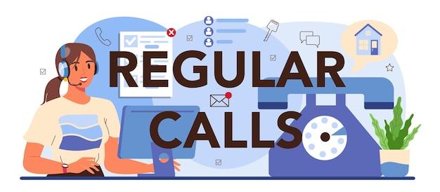 Typografische kopfzeile für regelmäßige anrufe. immobilienagentur, immobilienkauf