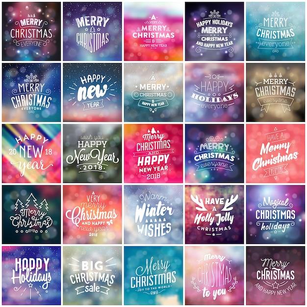 Typografische weihnachten