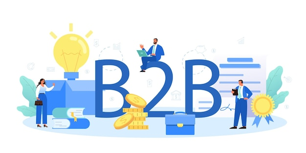 Typografischer b2b-header