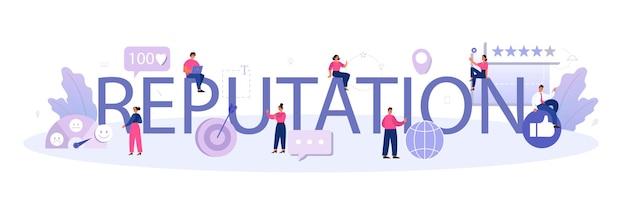 Typografischer header der reputation