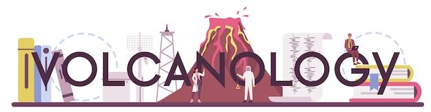 Typografischer header der vulkanologie