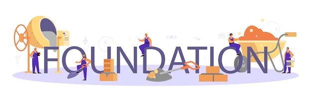Typografischer header des foundation builders