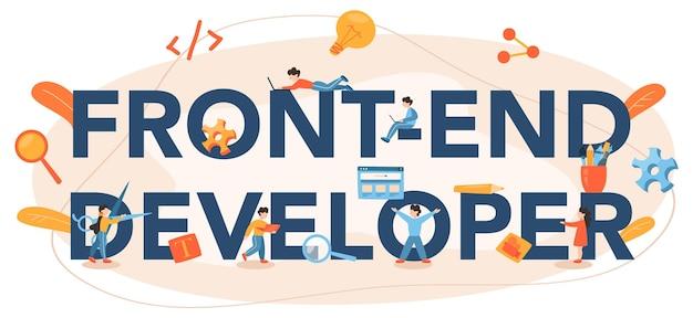 Typografischer header des front-end-entwicklers