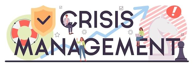 Typografischer header des krisenmanagements