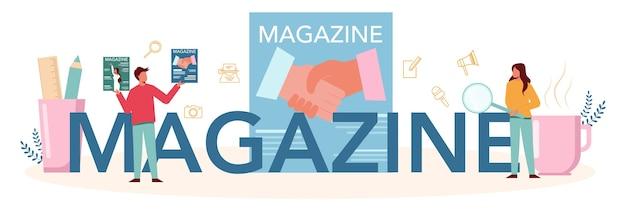Typografischer header des magazins