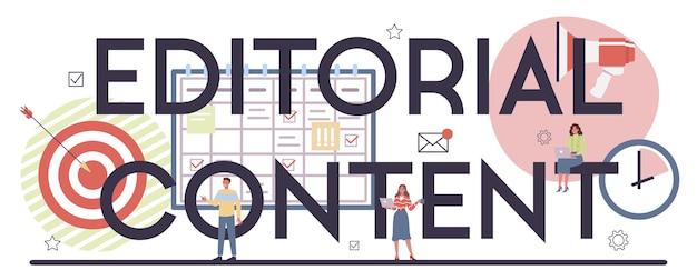 Typografischer header des redaktionellen inhalts