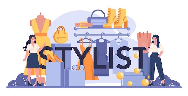 Typografischer header des stylisten