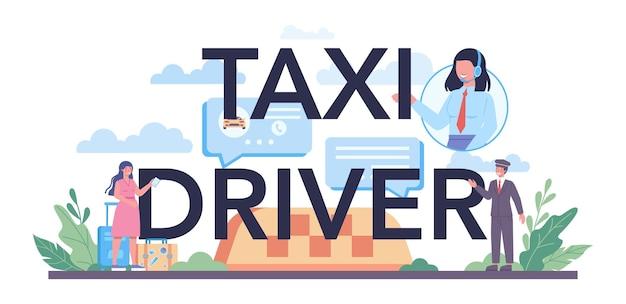 Typografischer header des taxifahrers