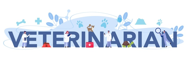 Typografischer header des tierarztes