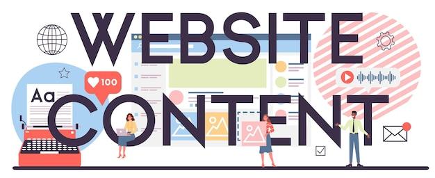 Typografischer header des website-inhalts