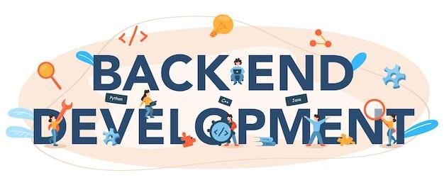 Typografischer header für die back-end-entwicklung