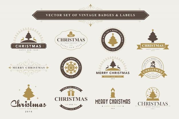 Typografischer hintergrund frohe weihnachten und ein gutes neues jahr