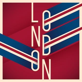 Typografischer londoner hintergrund