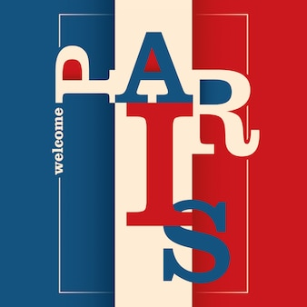 Typografischer paris-hintergrund