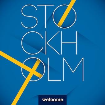 Typografischer stockholm-hintergrund
