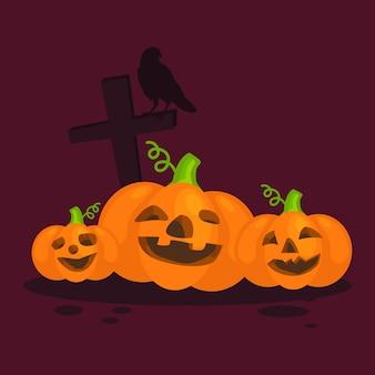 Typografischer text glücklichen halloweens