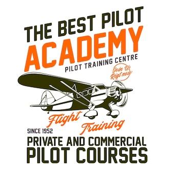 Typografisches design der pilot academy