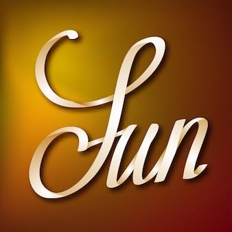 Typografisches designkonzept mit kalligraphischem handgeschriebenem elegantem band