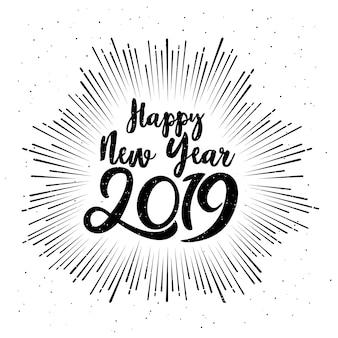 Typografisches frohes neues jahr 2019