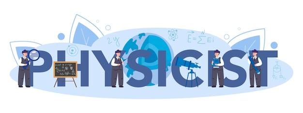 Typografisches header-konzept des physikers