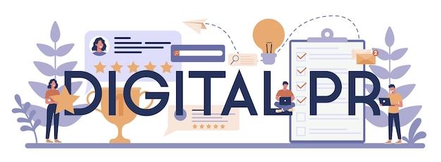 Typografisches header-konzept für digitale pr