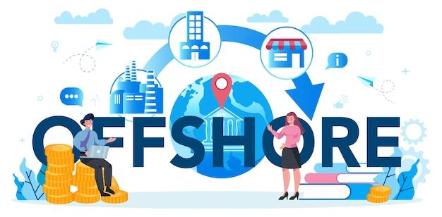 Typografisches header-konzept für offshore-spezialisten oder unternehmen