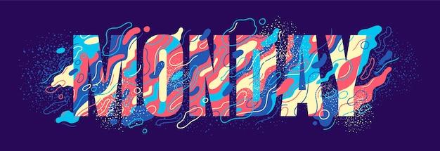 Typografisches montag-bannerzeichen