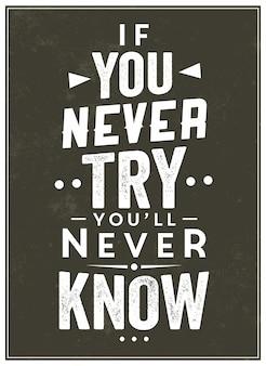 Typografisches motivzitat