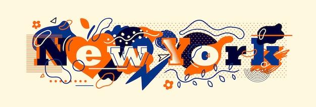 Typografisches new yorker bannerdesign