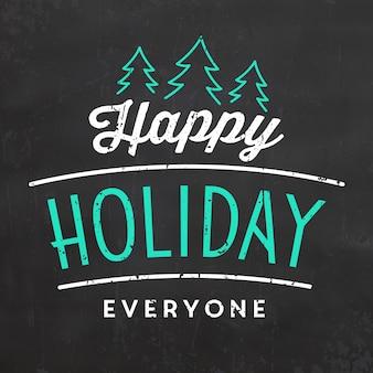 Typografisches weihnachtsdesign / frohe feiertage jeder