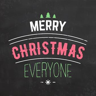 Typografisches weihnachtsdesign / frohe weihnachten