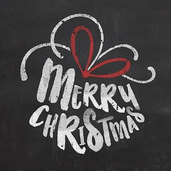 Typografischmerry christmas