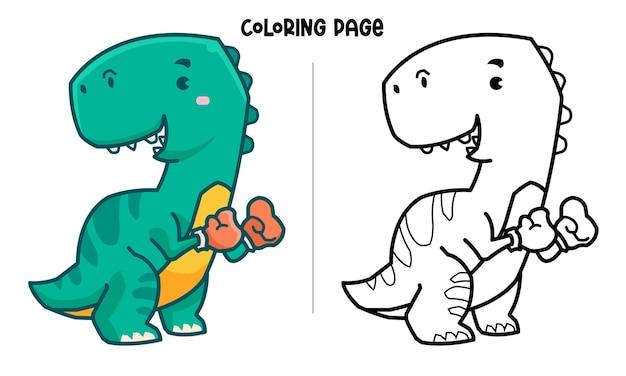 Tyrannosaurus der boxer