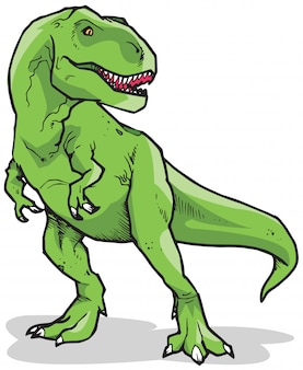 Tyrannosaurus rex dinosaurier