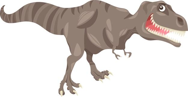 Tyrannosaurusdinosaurier-karikaturillustration