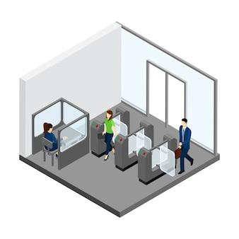 U-bahn-eingang illustration
