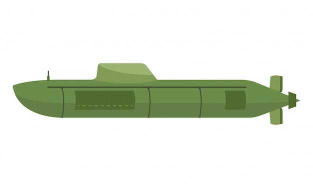 U-boot mit der nuklearwaffe bereit, den feind anzugreifen