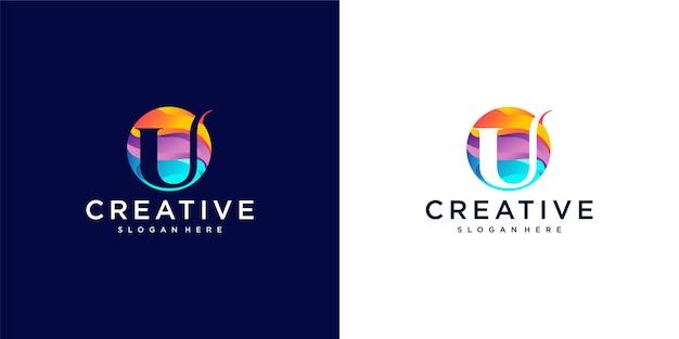 U logo kräftige farbe