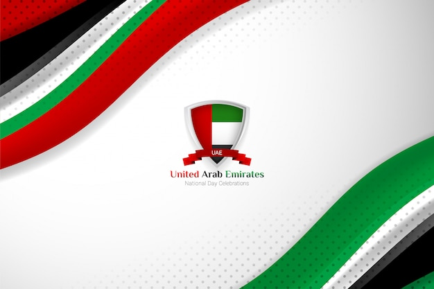 Uae-flaggenhintergrund für nationaltag