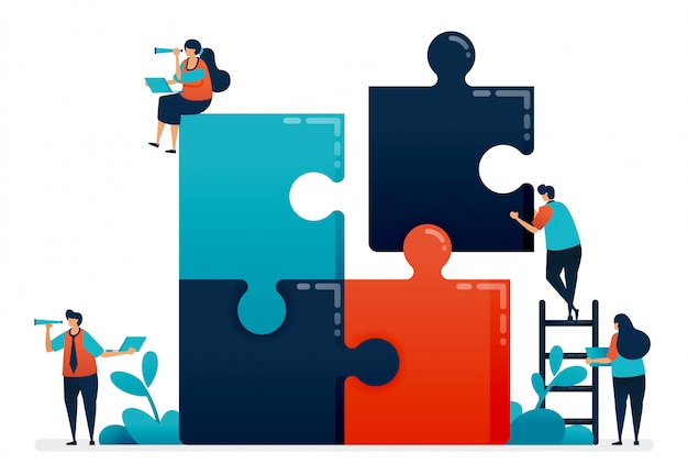 Übe die zusammenarbeit und das lösen von problemen in teams, indem du puzzlespiele abschließt.