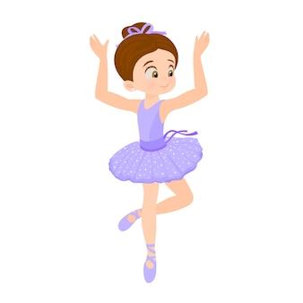 Übendes ballett des kleinen mädchens