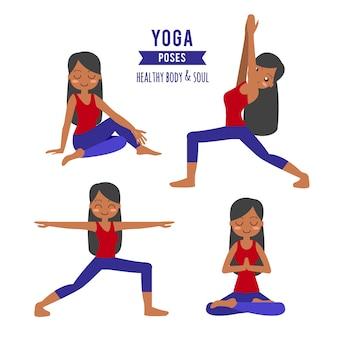 Übendes yoga der frau in der baumhaltung in asana vrikshasana.